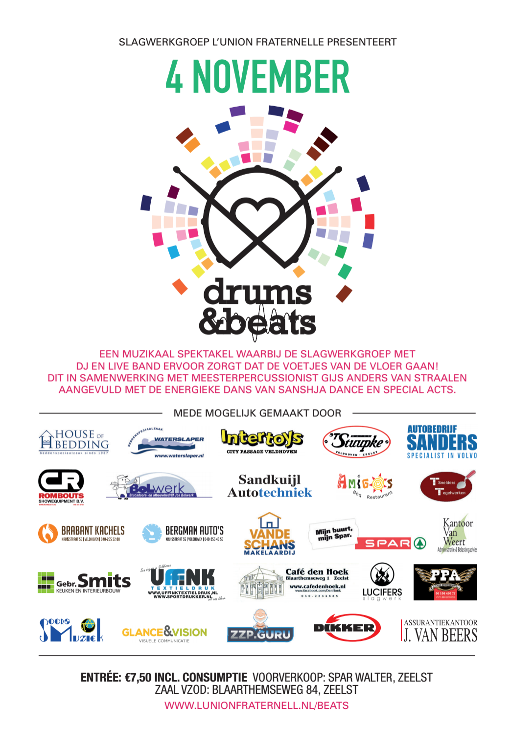 Drums & Beats Flyer Back